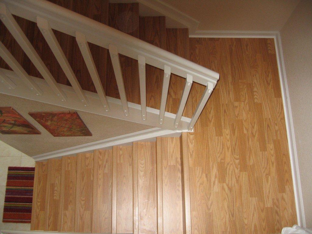Wood-look laminate stairway in Dania Beach, FL from Daniel Flooring