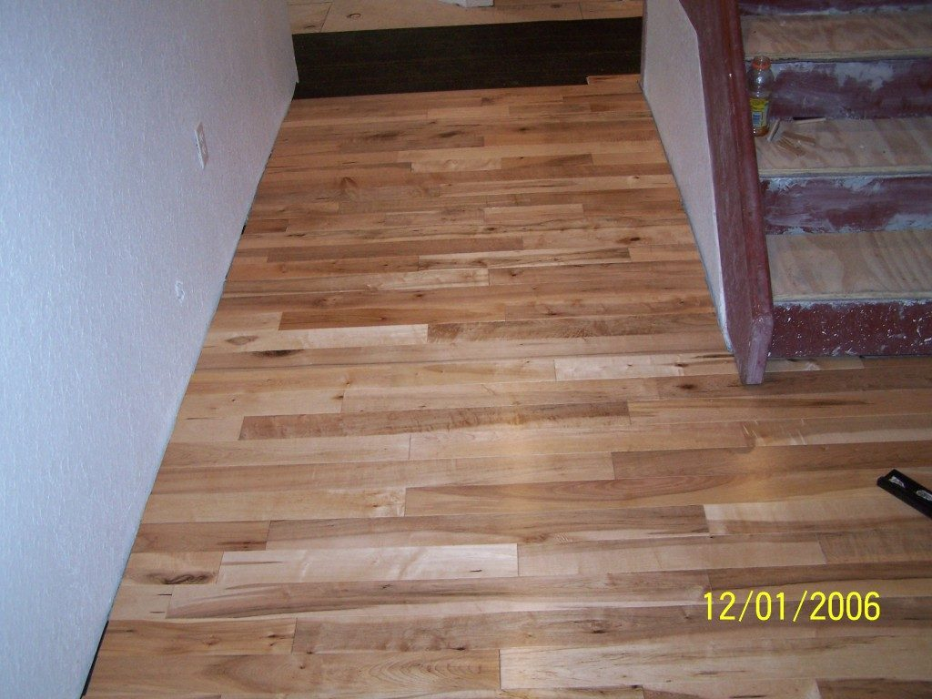 Natural hardwood installation in progress in Hollywood, FL from Daniel Flooring