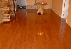 Classic hardwood installation in Dania Beach, FL from Daniel Flooring