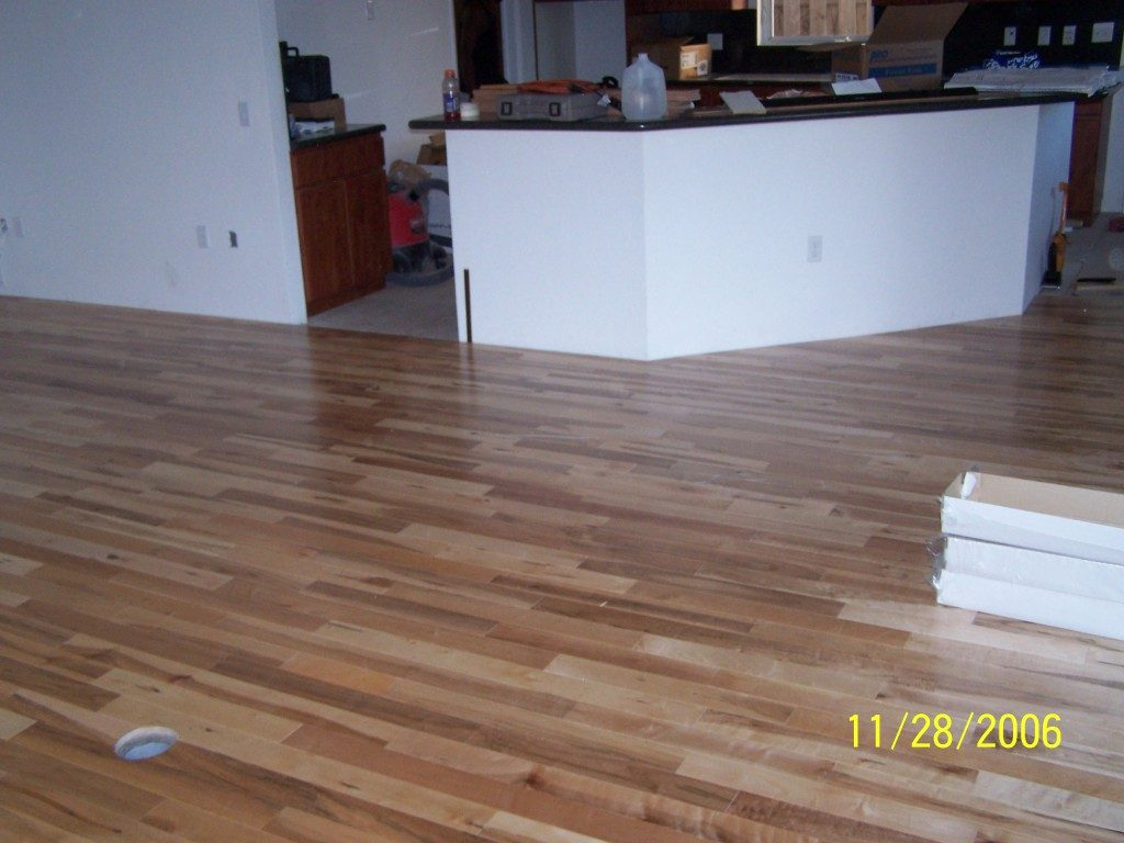 Multi-tone hardwood installation in Plantation, FL from Daniel Flooring