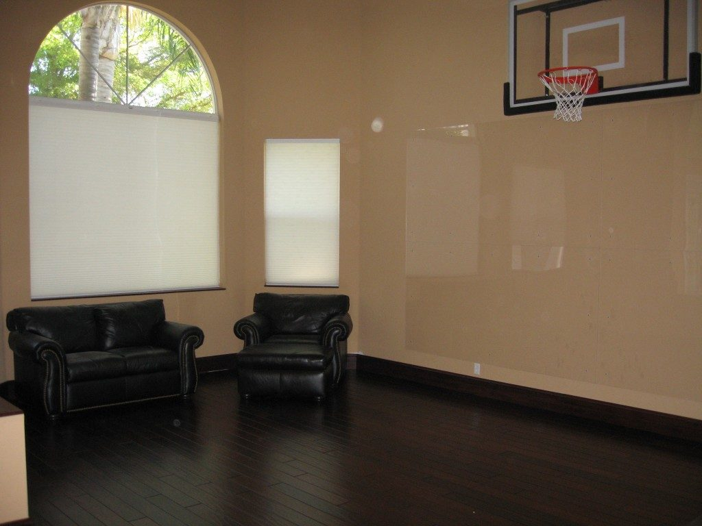 Dark tone hardwood installation in Weston, FL from Daniel Flooring