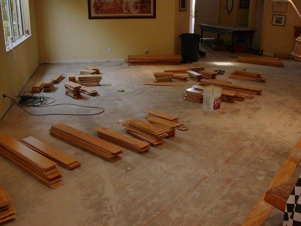 Flooring installation in progress in Fort Lauderdale, FL from Daniel Flooring