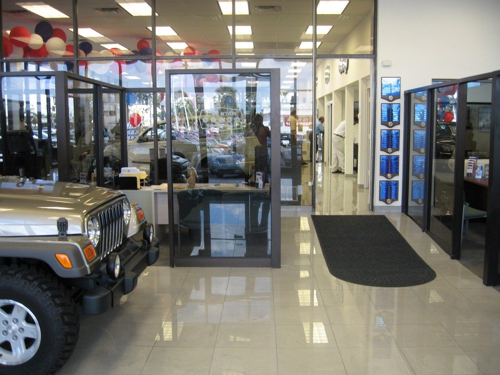 Marble tile commercial installation in Dania Beach, FL from Daniel Flooring
