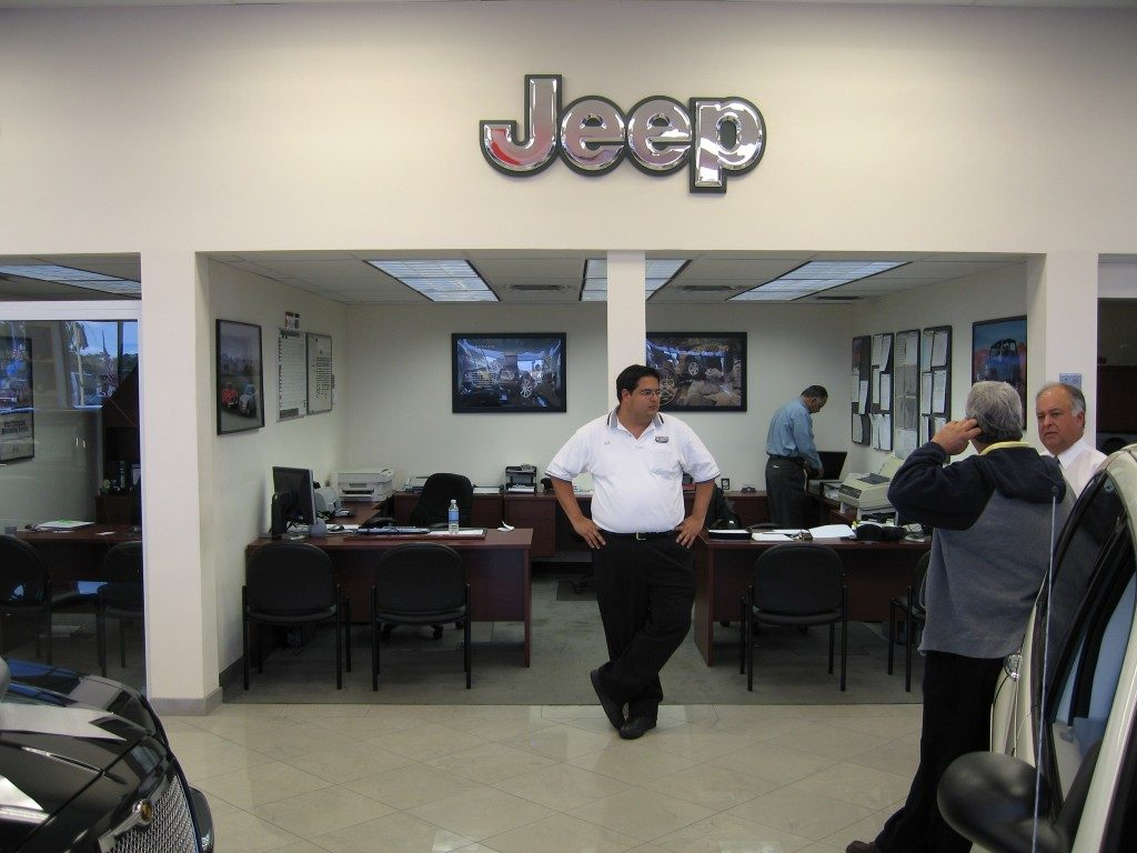 Jeep dealership with marble flooring from Daniel Flooring in Dania Beach, FL