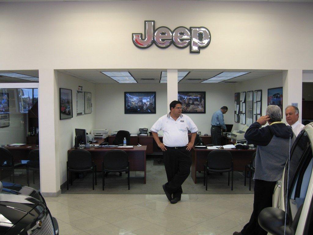 Jeep dealership with marble flooring from Daniel Flooring in Dania Beach, FL
