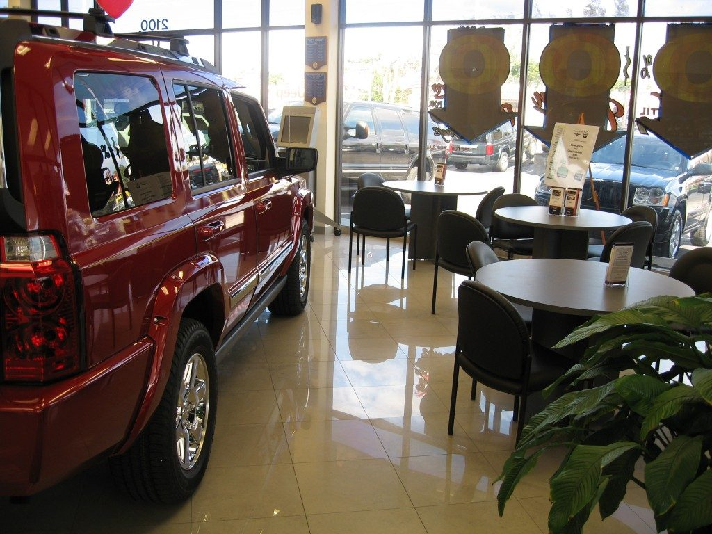 Jeep Commander on marble flooring from Daniel Flooring