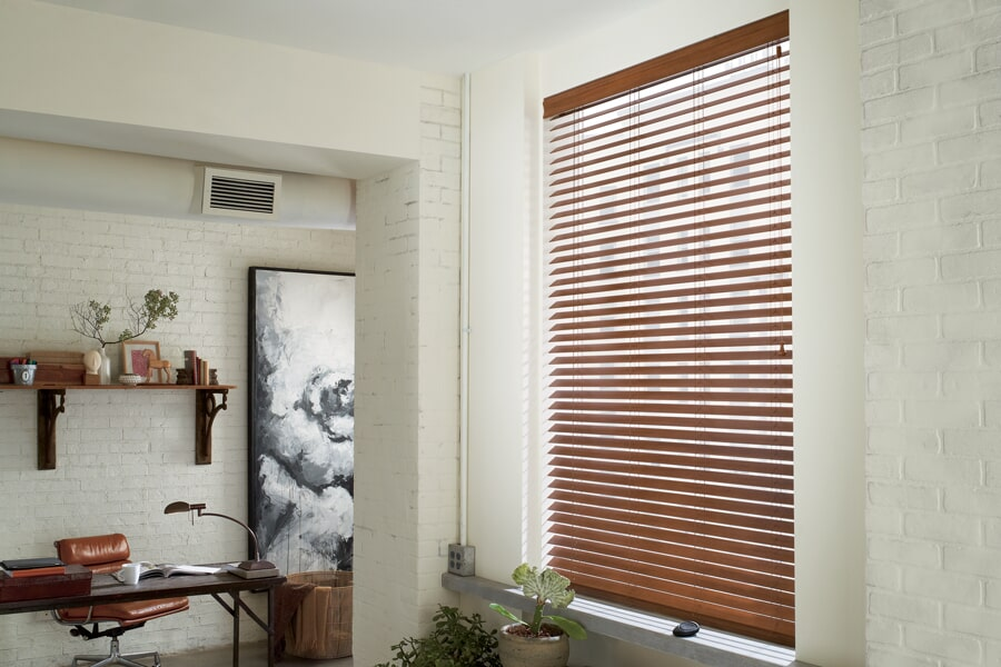 Hunter Douglas wood window treatments in Luray, VA from Early's Flooring Specialists & More