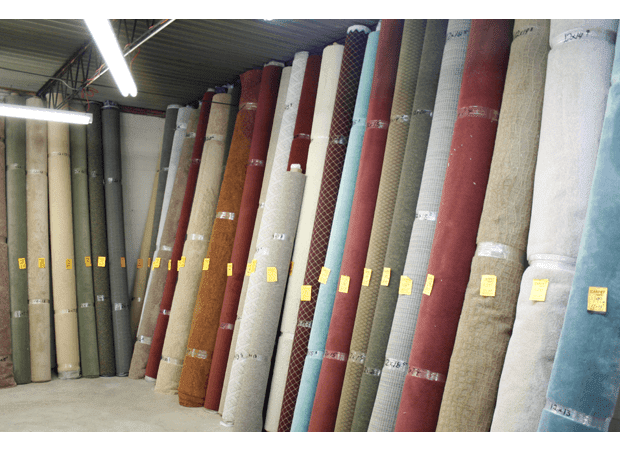 Carpet rolls of every color at Carpet Depot in Decatur, GA