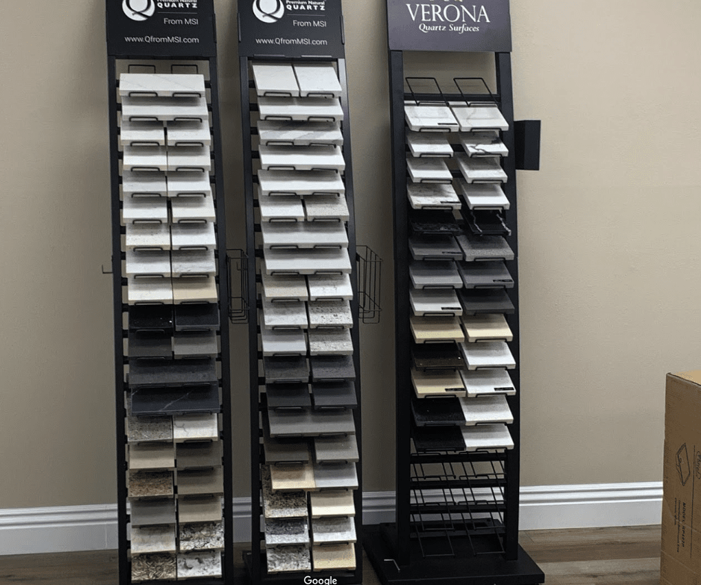 One of our many displays in Santa Clarita, CA at Dave Walter Flooring Kitchens and Baths