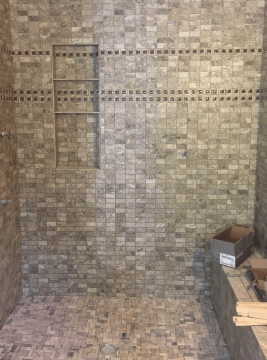 Custom shower install from the proffesionals in Santa Clarita, CA from Dave Walter Flooring Kitchens and Baths