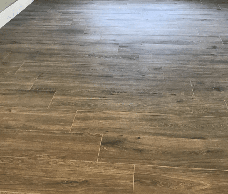 Wood look tile flooring in Santa Clarita, CA from Dave Walter Flooring Kitchens and Baths