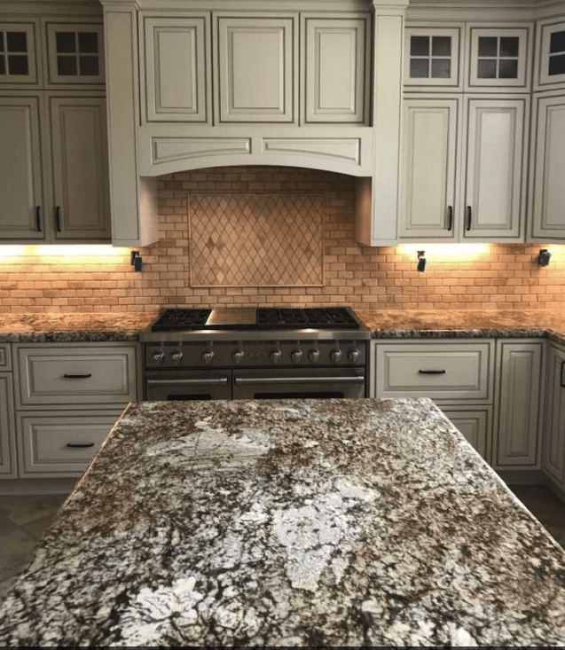 Beautiful slab of granite in newly renovated kitchen in Canyon Country, CA