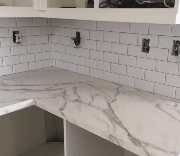 Modern sleek kitchen renovation in progress in Canyon Country, CA