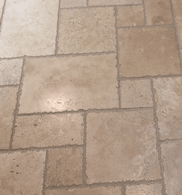 Unique tile floor pattern in Valencia, CA from Dave Walter Flooring Kitchens and Baths