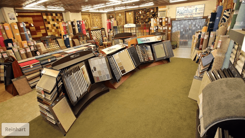 Carpet from top brands like Shaw floors and Mohawk at Reinhart Carpet Outlet