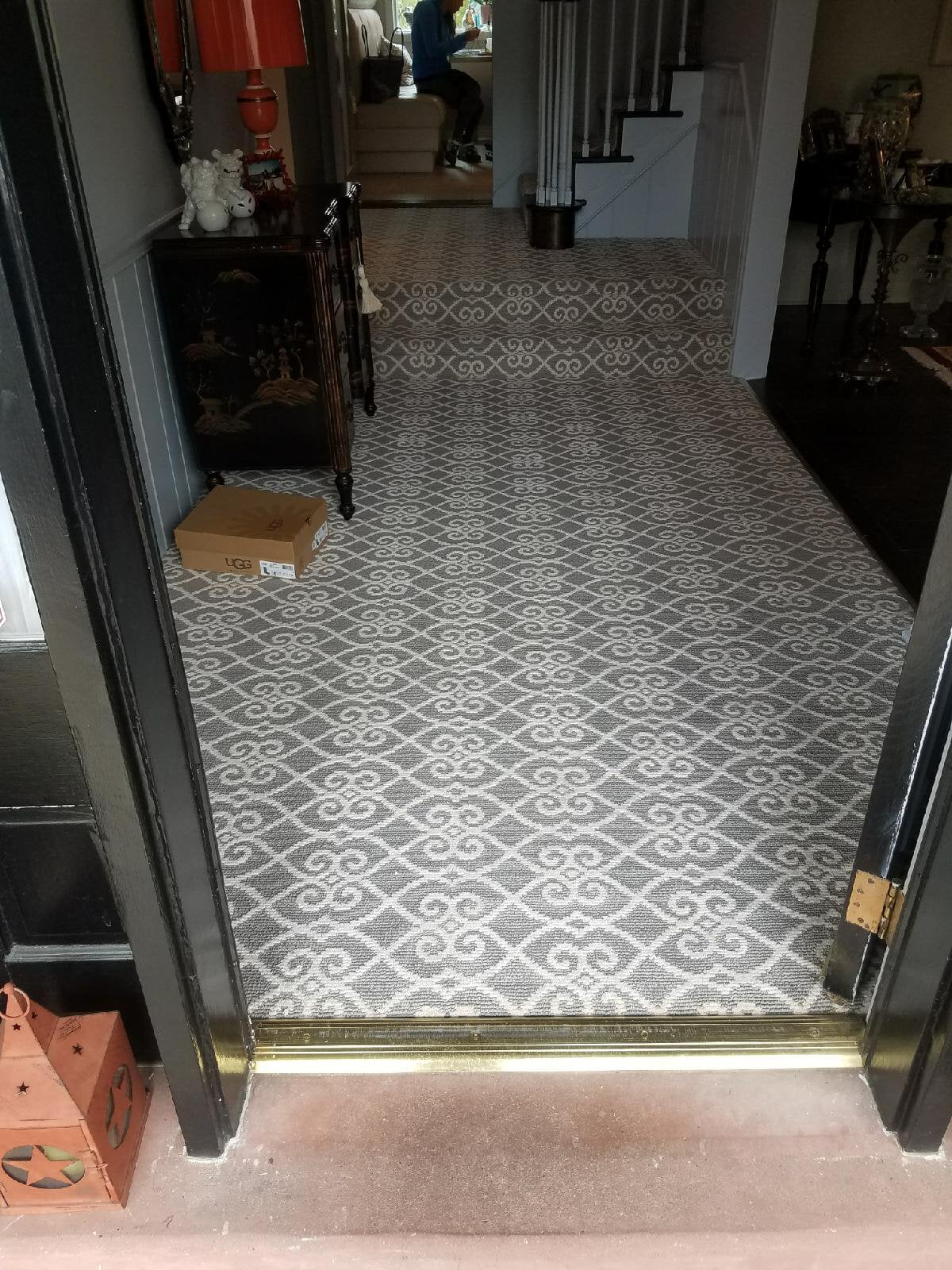 Multi-level carpet installation in Abington, PA from Reinhart Carpet Outlet