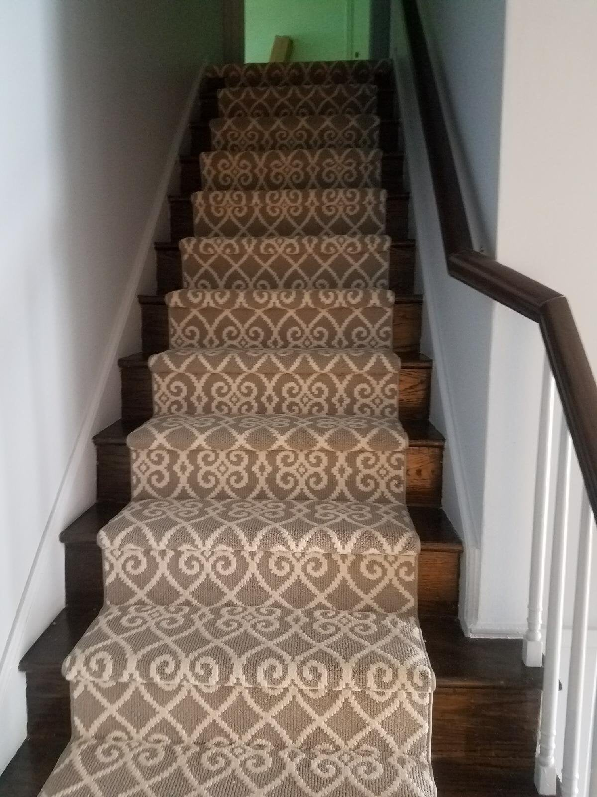 Custom carpeted stairs from Reinhart Carpet Outlet in Philadelphia, PA