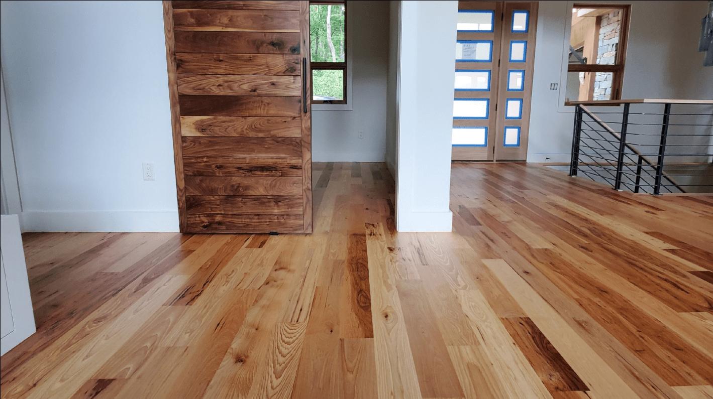 Hardwood installation from Arbor Zen Hardwood Floors in Asheville, NC