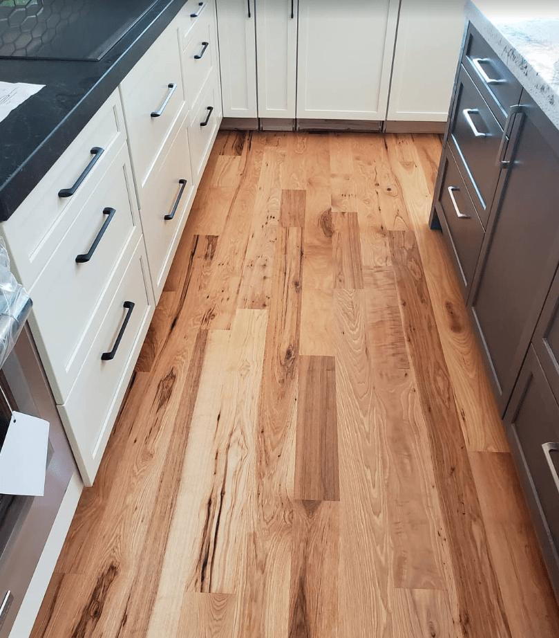 Kitchen Flooring installation from Arbor Zen Hardwood Floors in Black Mountain, NC