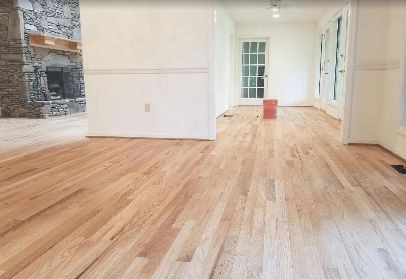 Flooring installation from Arbor Zen Hardwood Floors in Asheville, NC