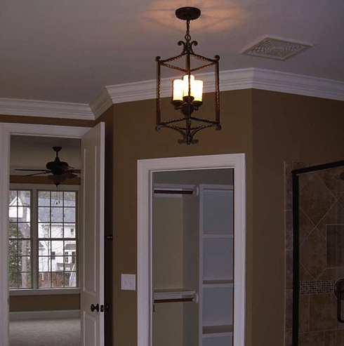 Light fixture installed in Holly Springs, NC from The Home Center Flooring & Lighting