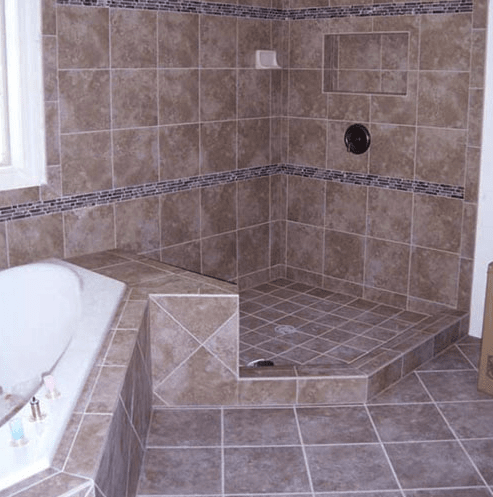 Custom bath and shower installation in Cary, NC from The Home Center Flooring & Lighting