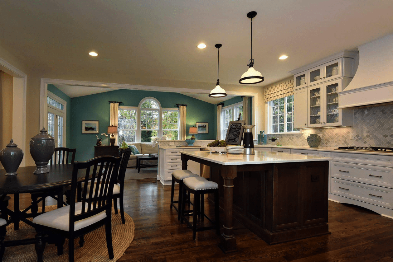 Beautiful kitchen renovation with dark tone flooring in Fuquay-Varina, NC from The Home Center Flooring & Lighting