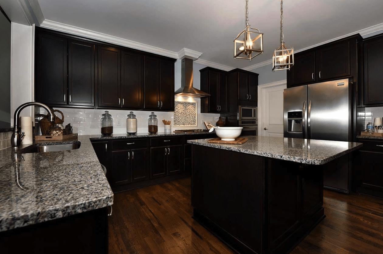 Waterproof woof-look flooring in modern kitchen design in Cary, NC