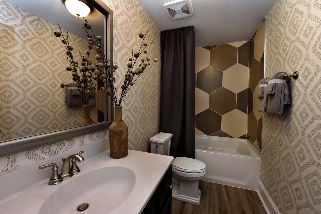 Custom large hexagonal tile shower in Fuquay-Varina, NC from The Home Center Flooring & Lighting