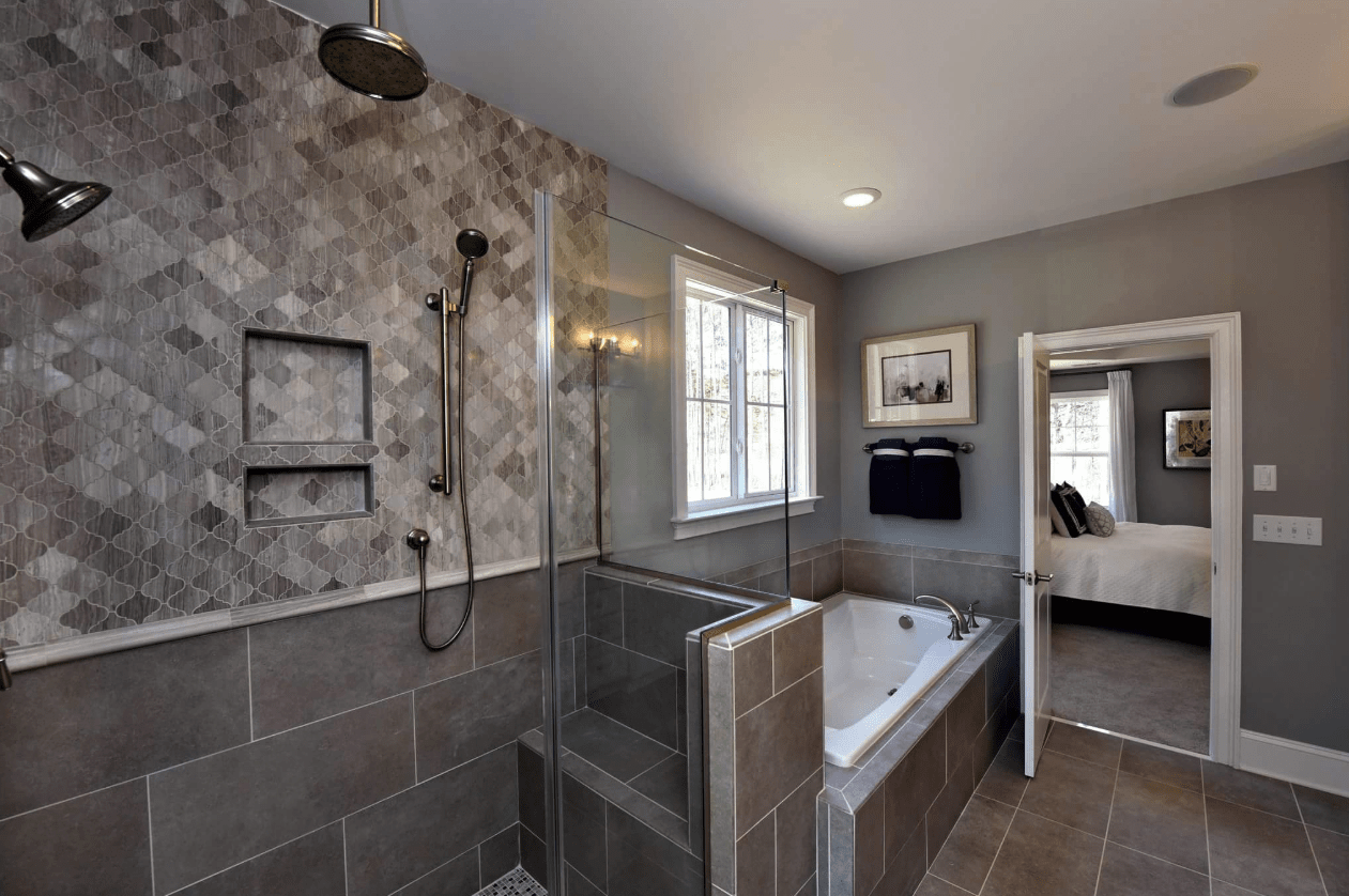 Shower and bath combination install in Raleigh, NC from The Home Center Flooring & Lighting