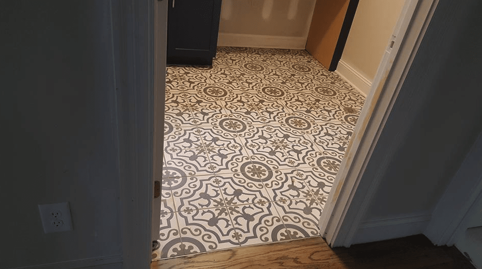 Mosaic tile flooring design in Holly Springs, NC from The Home Center Flooring & Lighting
