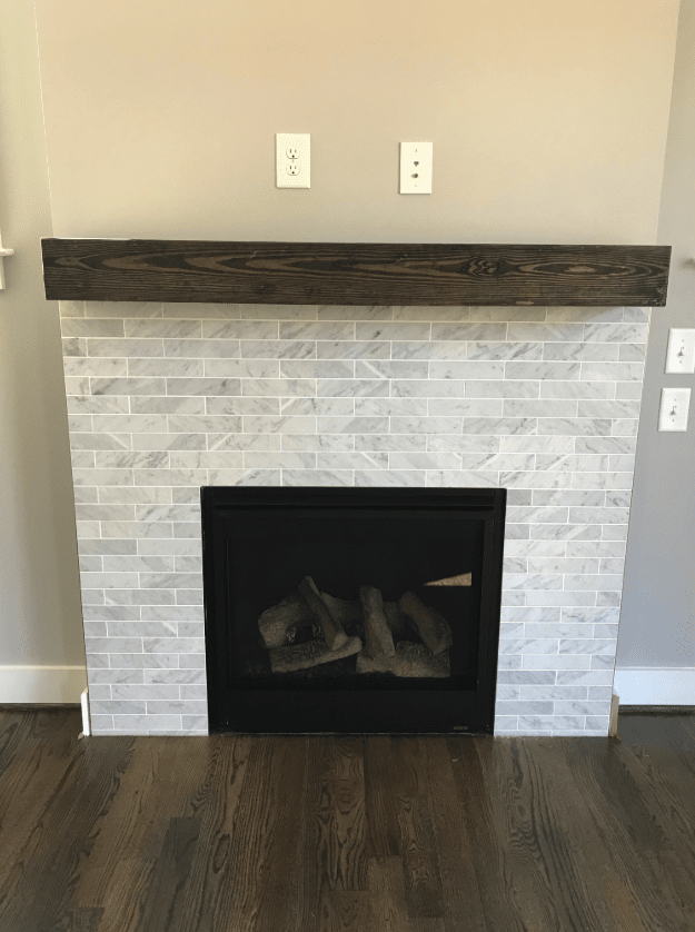 Modern fireplace design in Raleigh, NC from The Home Center Flooring & Lighting