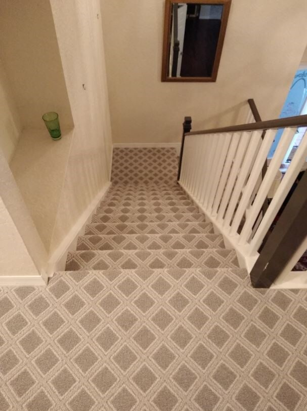 Carpet installation from Capitol Carpet & Tile and Window Fashions in Wellington, FL