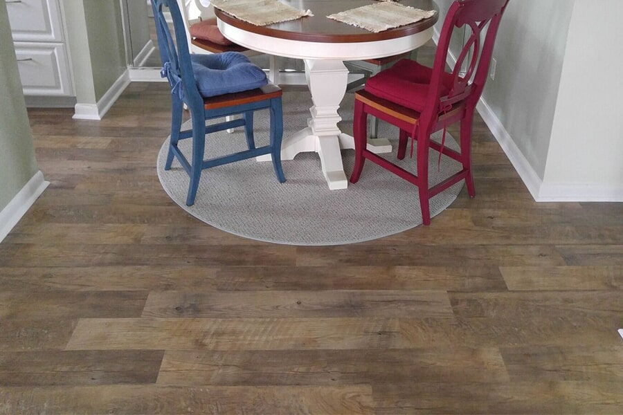 Wood look vinyl flooring installation in Stuart, FL from Carpets Etc