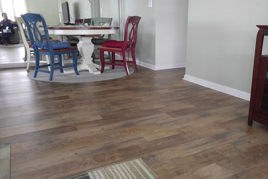 Luxury vinyl flooring installation in Palm City, FL from Carpets Etc