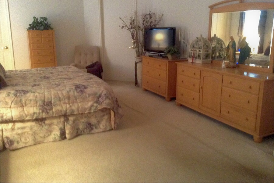 Bedroom carpet installation in Jensen Beach, FL from Carpets Etc