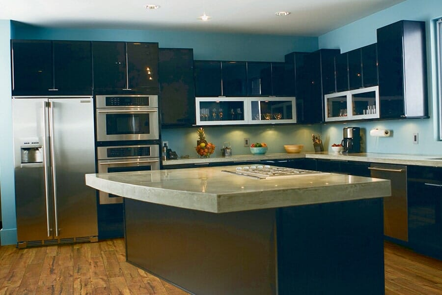 Elegant Concrete Counters in Scarsdale, NY