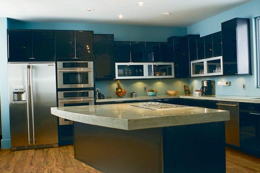 Luxury Black Cabinets in Pelham, NY