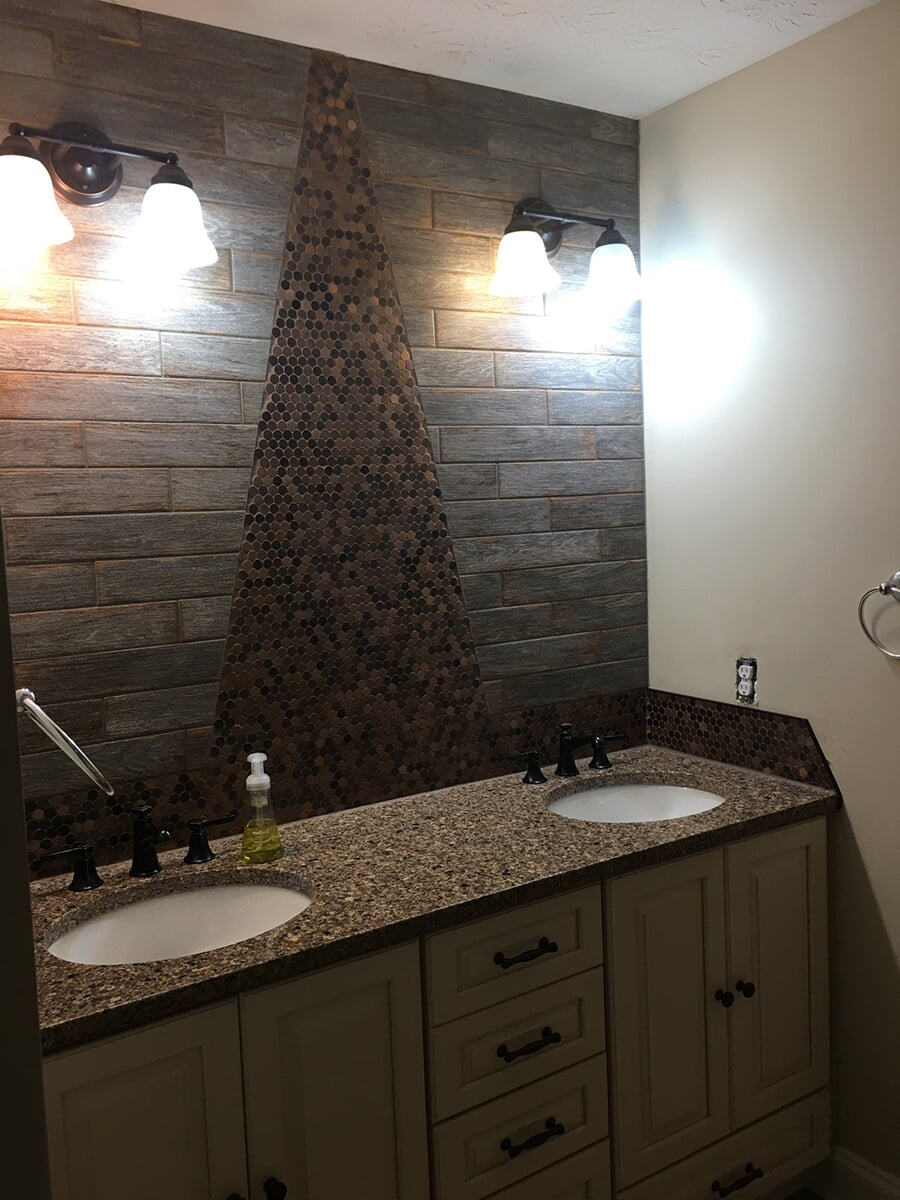 Bathroom remodeling at Purdy Flooring