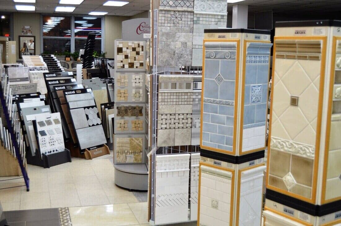 Tile in showroom