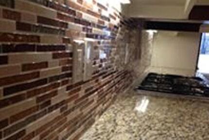 Tile backsplash from Carpets Unlimited in Athens, GA