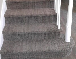 Custom carpeted stairs from Artizan Flooring in Plymouth, IN