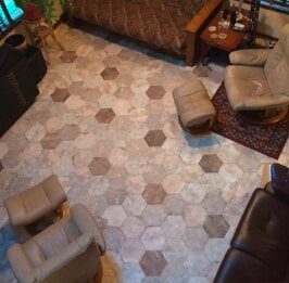 Hexagonal tile flooring from Artizan Flooring in Culver, IN