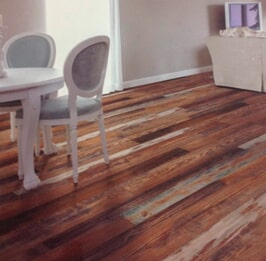Rustic hardwood installation from Artizan Flooring in Lakeville, IN