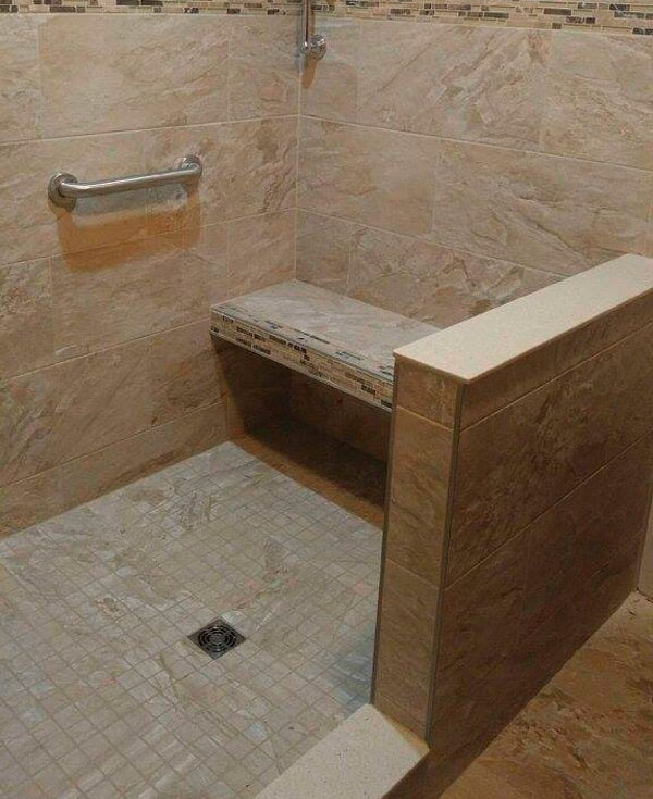 Custom accessible shower from Artizan Flooring in Culver, IN