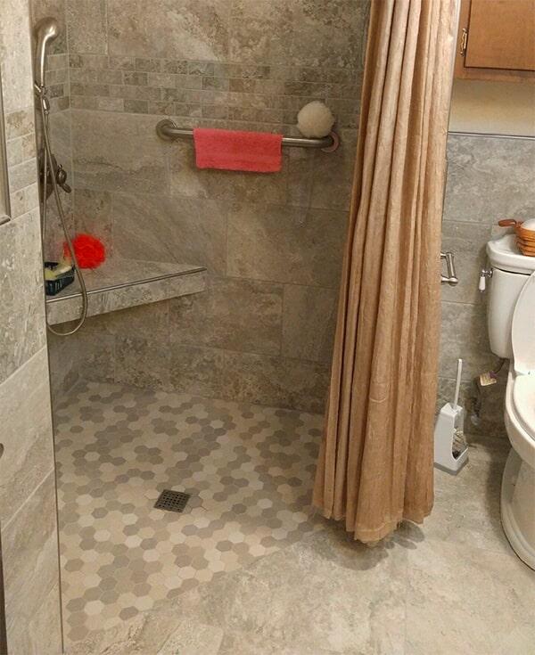 Bathroom renovation from Artizan Flooring in Culver, IN