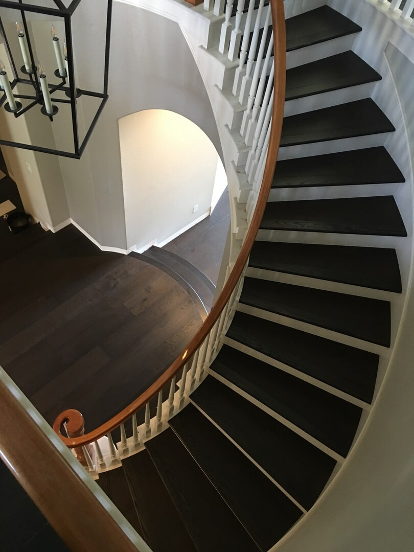 Bergen Hardwood Flooring Our Work - Stairs1