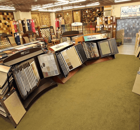Shaw and Mohawk displays at our Havertown, PA showroom