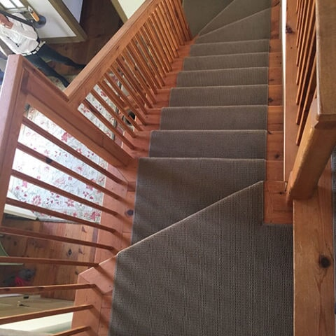 Masland carpet stair runner in Media, PA from Havertown Carpet