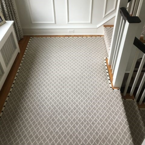Springers Point Almond stair runner on landing in West Chester, PA